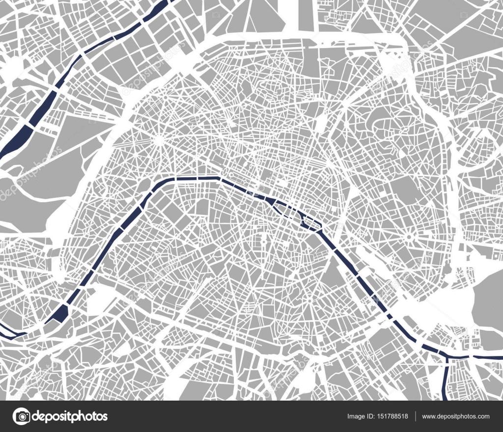 パリフランスの都市の地図 ストックベクター Tish11 151788518