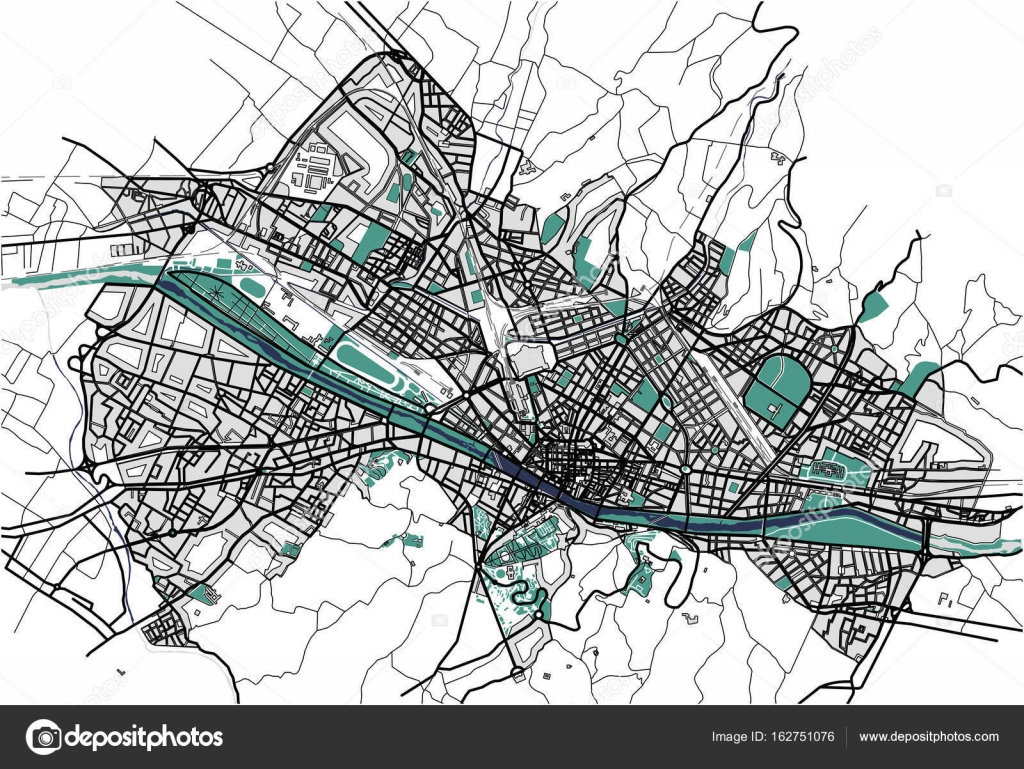 City Map Of Florence Italy Stock Vector C Tish11 162751076