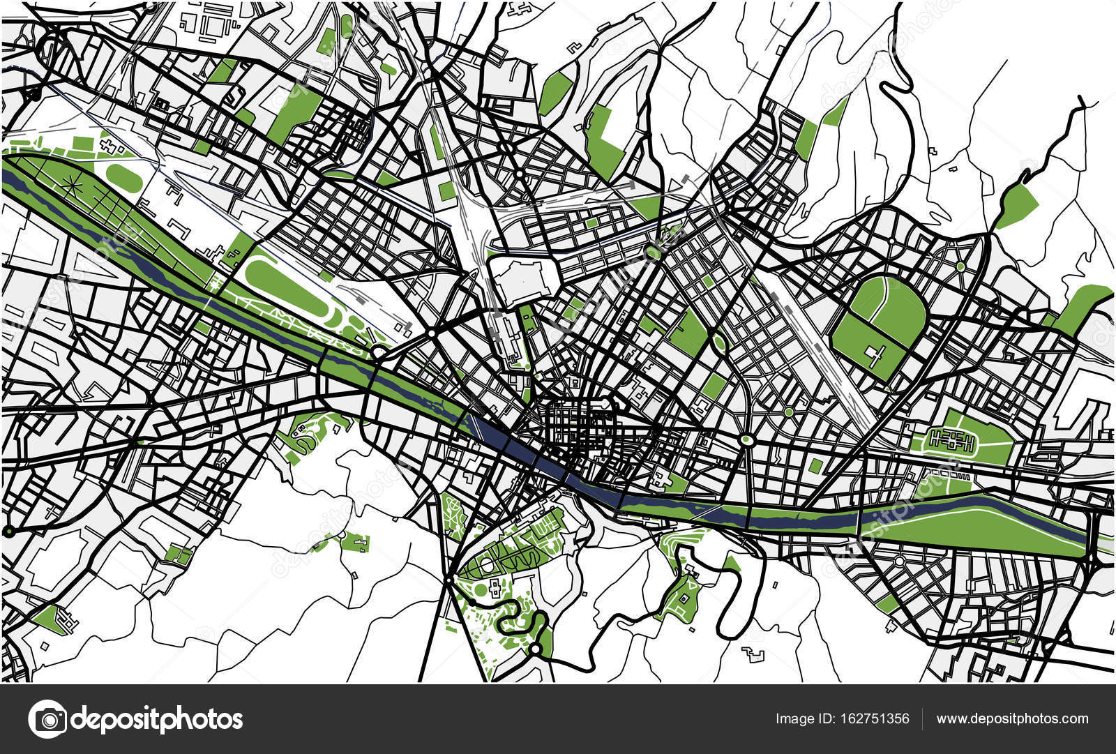 City Map of Florence, Italy — Stock Vector © tish11 #162751356