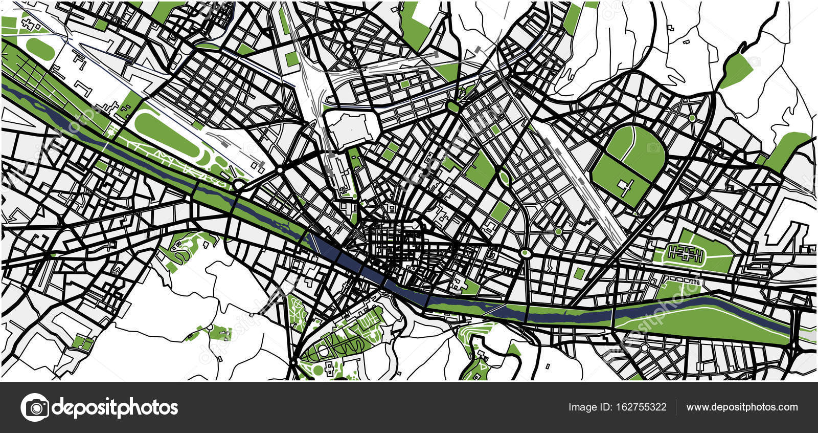 City Map of Florence, Italy — Stock Vector © tish11 #162755322
