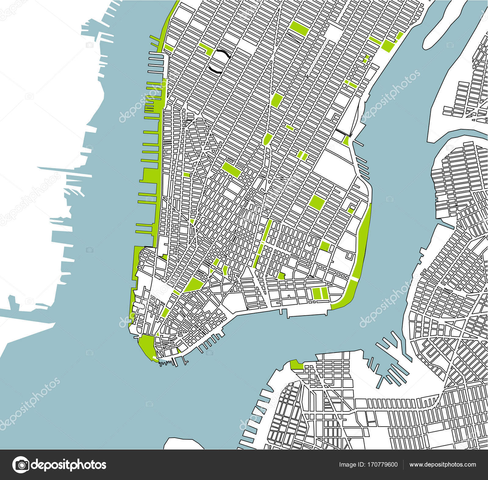 New York City On Map Of Usa.Map Of The New York City Ny Usa Stock Photo C Tish11 170779600