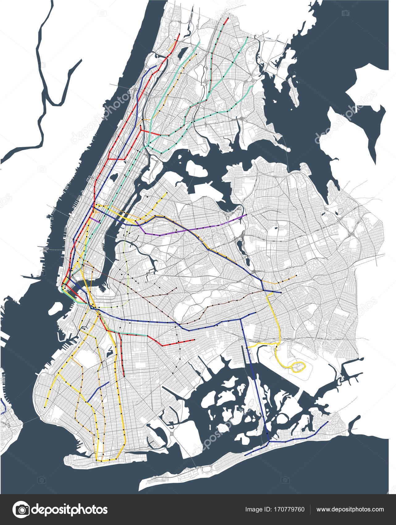U Bahn Karte New York.Karte Der U Bahn Von New York City Ny Usa Stockfoto Tish11