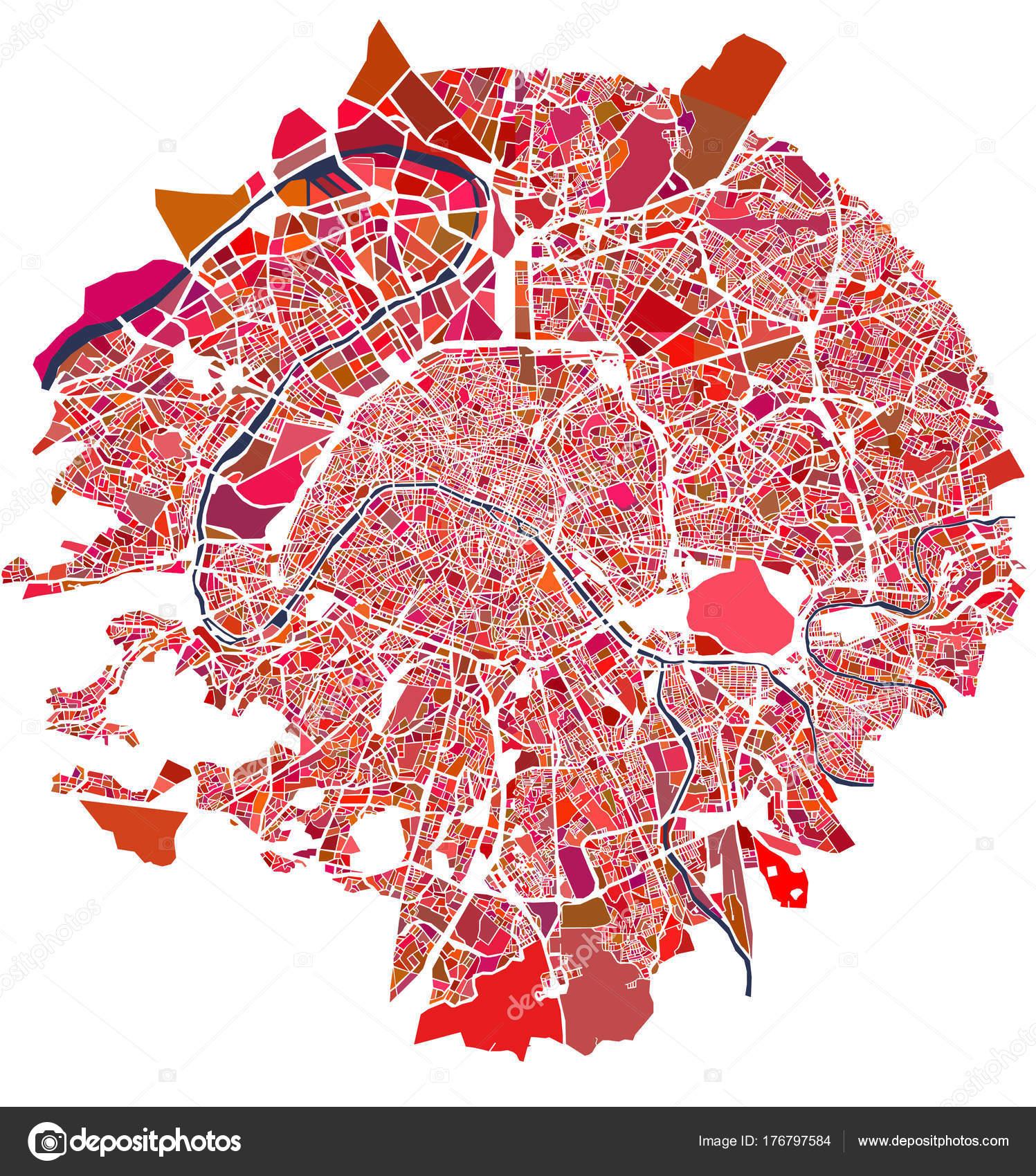 Karte Paris Stadtplan.Stadtplan Von Paris Stockfoto Tish11 176797584