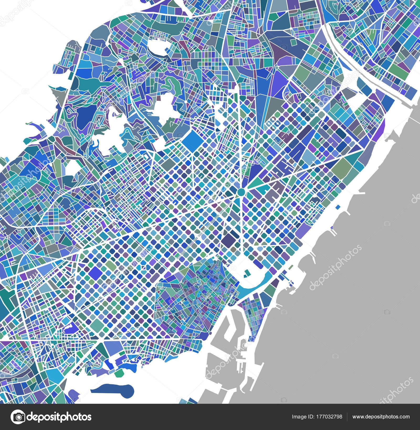 mapa da cidade de barcelona Mapa da cidade de Barcelona, Espanha — Stock Photo © tish11 #177032798 mapa da cidade de barcelona