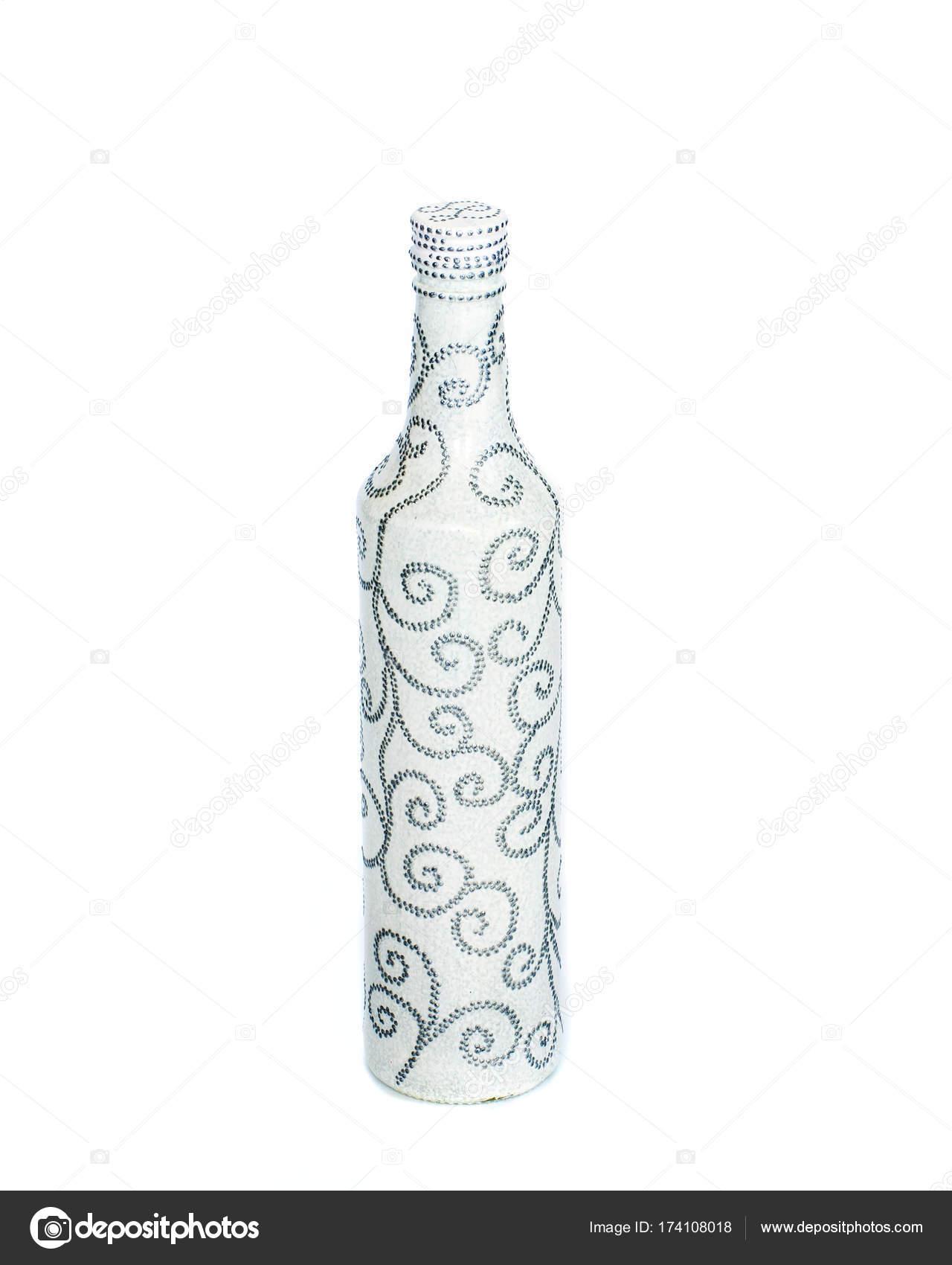 Nokta Boya şişe Boya Ile Boyanmış çok Güzel Dekor Izole Stok