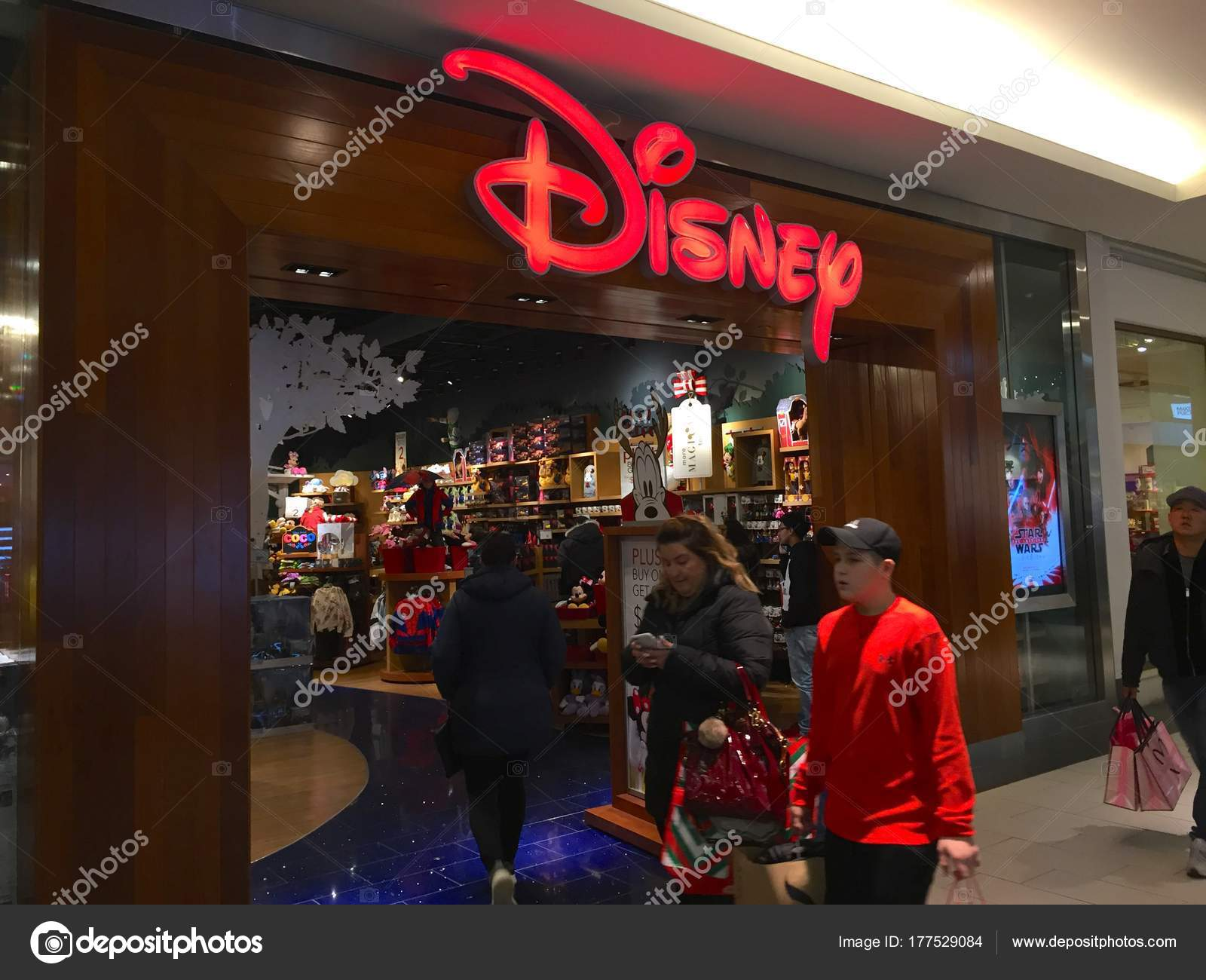 Long Island Circa 2017 Disney Store Retail Location Roosevelt Field