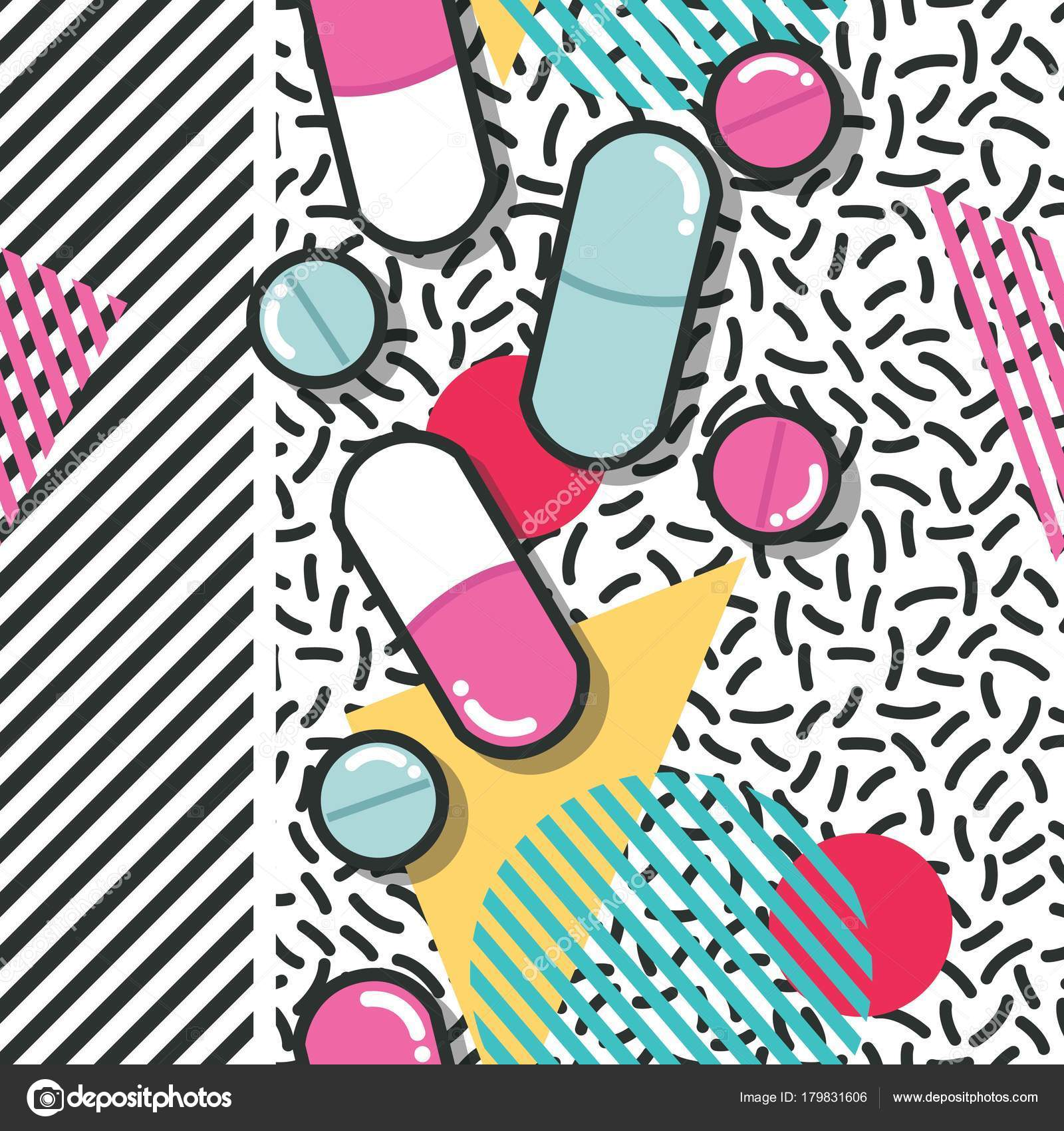 827ee517e1e Pills and capsules seamless pattern