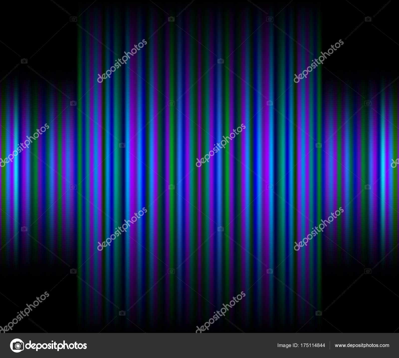 Abstract Black Neon Background With Vertical Pink, Purple Stripes U2014 Stock  Vector