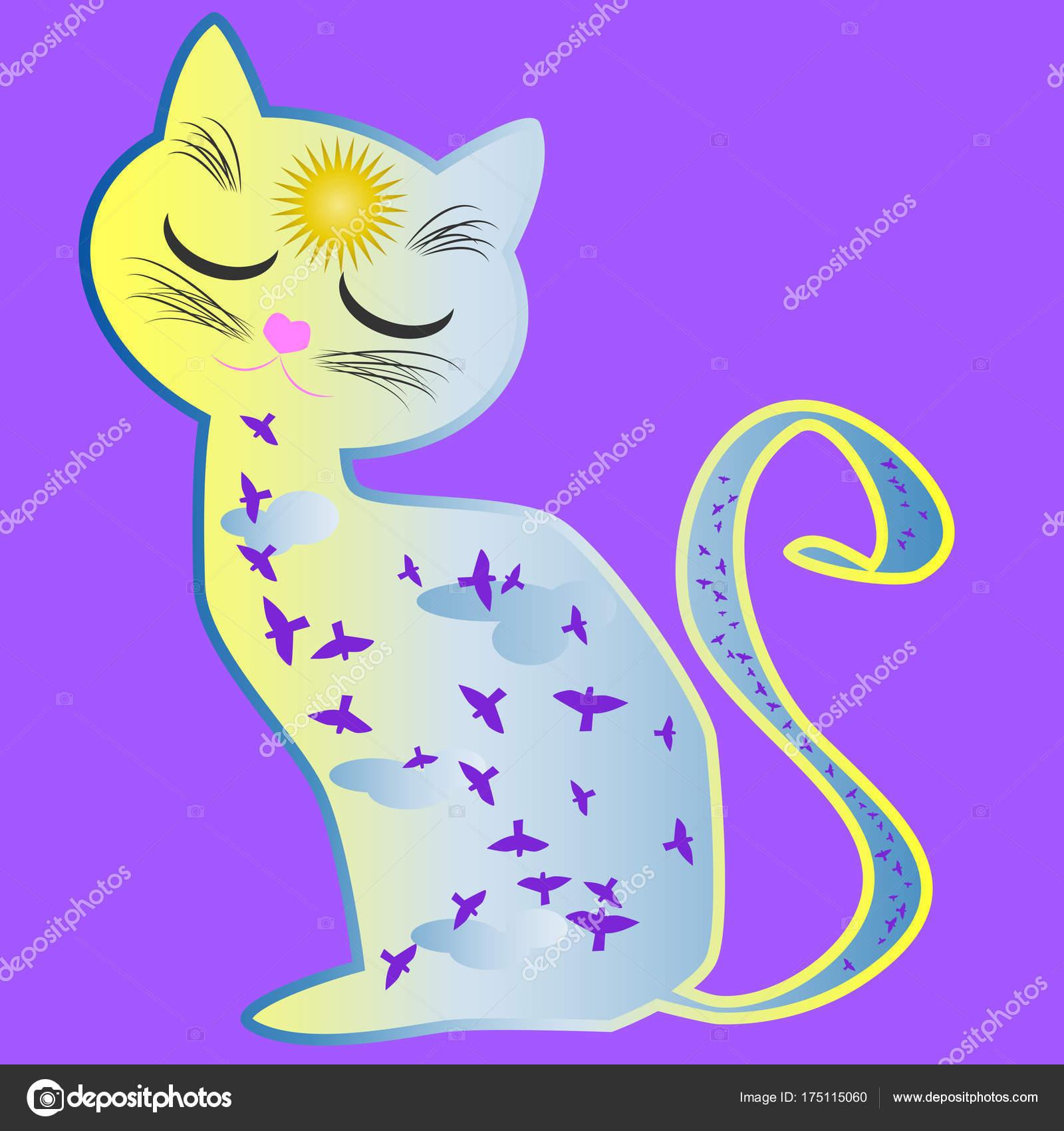 Fotos Gatos Para Pintar En La Cara Gato Día Silueta De Un Gato