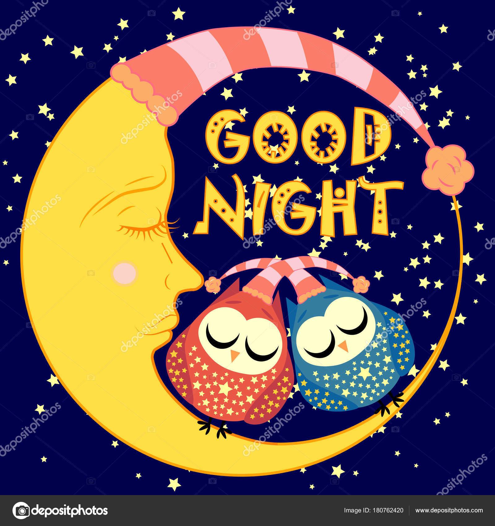 Immagini Cartoline Vintage Buonanotte Buona Notte Una