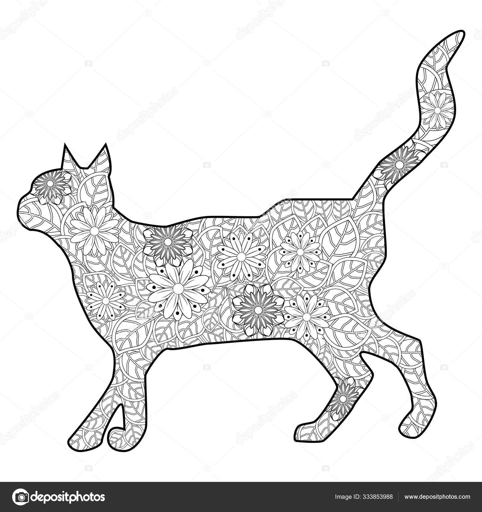 Книга-раскраска Волшебный кот для взрослых. Художественно ...
