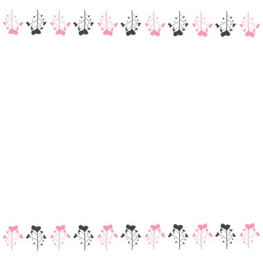 Delicate background, frame, scrapbook, with pink flowers, roses,