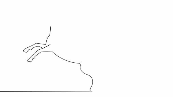 Önrajz egyszerű animáció egyszarvú design