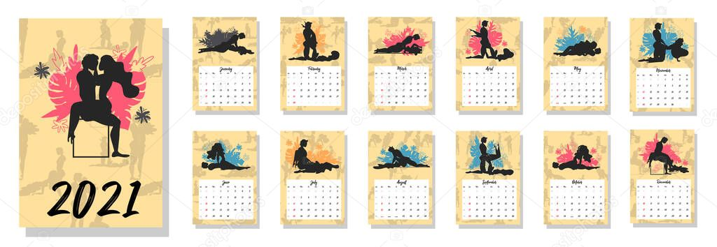 2021 Desain Kalender Dengan Banteng Dengan Hobi Musim Yang ...