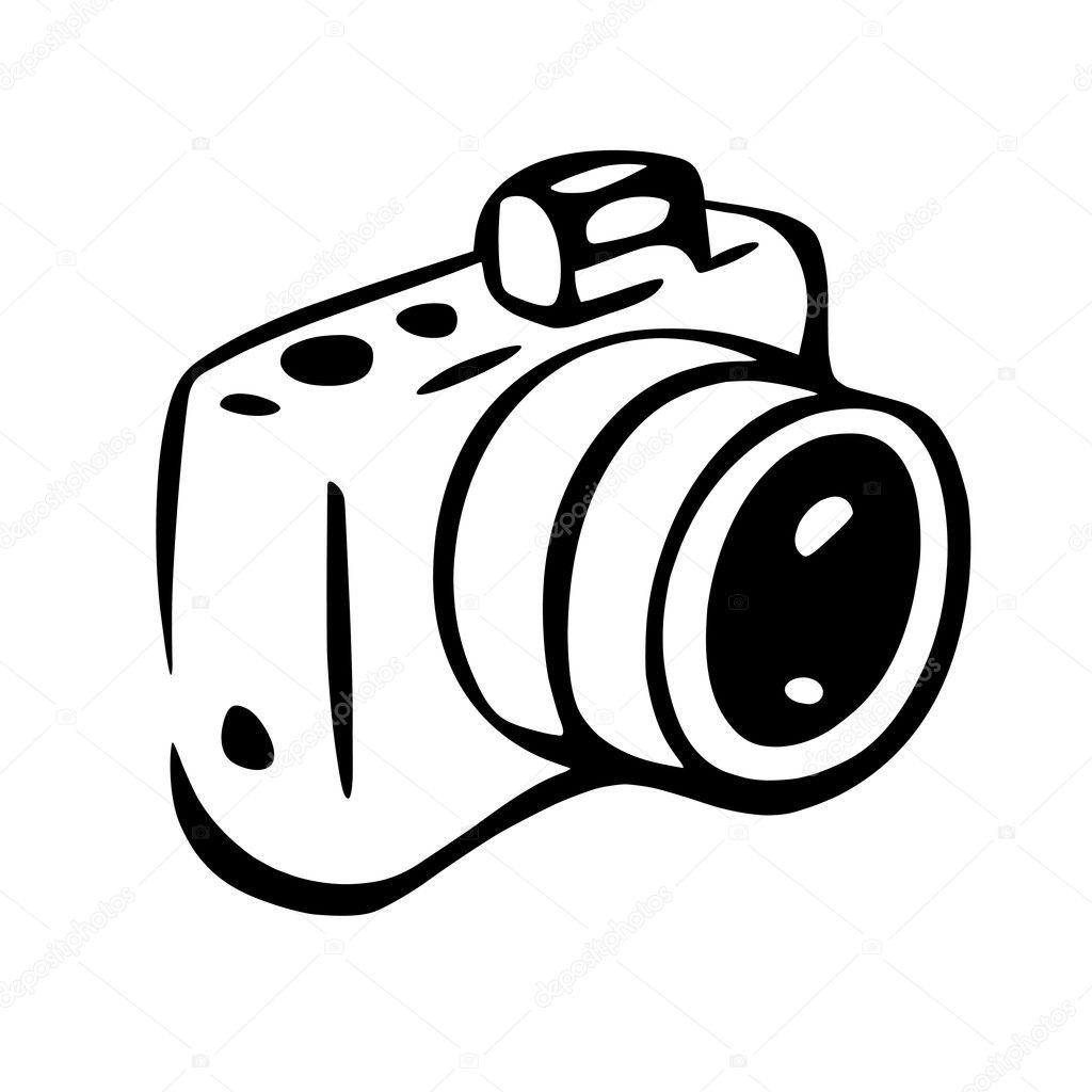 Well-known Câmara fotográfica de desenho — Vetor de Stock © Bolkins #128218678 TY42