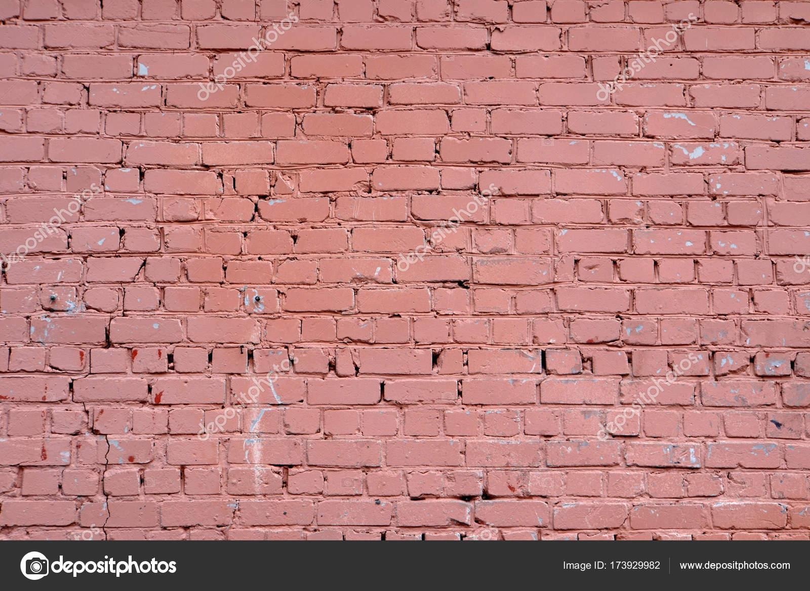 Hervorragend Die Wand Besteht Aus Ziegeln. Es Ist Mit Roter Farbe Bemalt. Hintergrund.  Von Außen. Design Element U2014 Foto Von Trofimich81