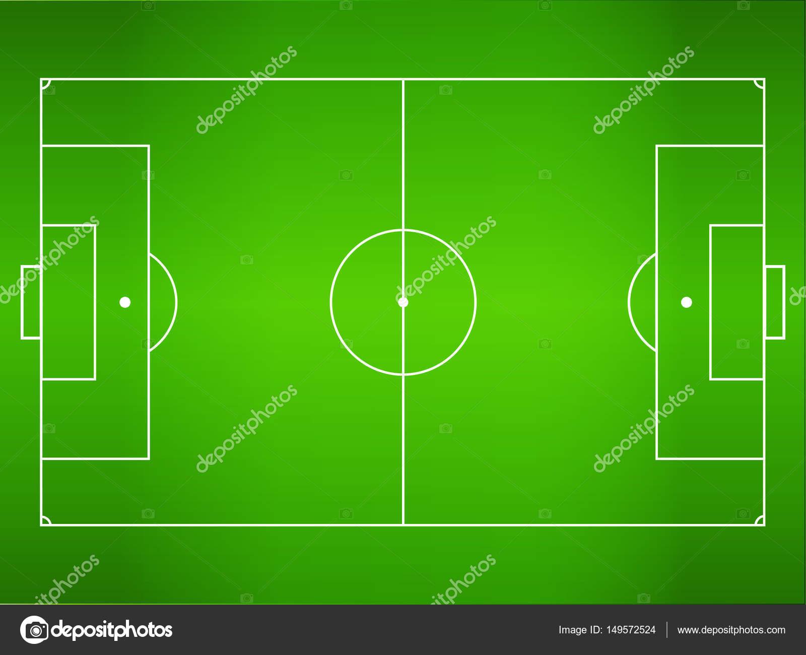 green grass football field. Green Grass Football Field, Soccer Field \u2014 Stock Vector T