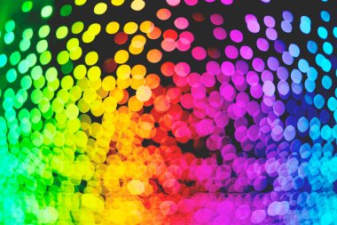 Rainbow colorful bokeh illumination wallpaper texture, defocused, illustration