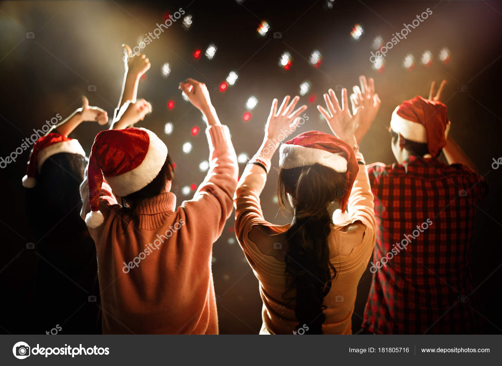 christmas and new year party celebration people and holiday concept dancing and celebrate theme photo by shutter2u