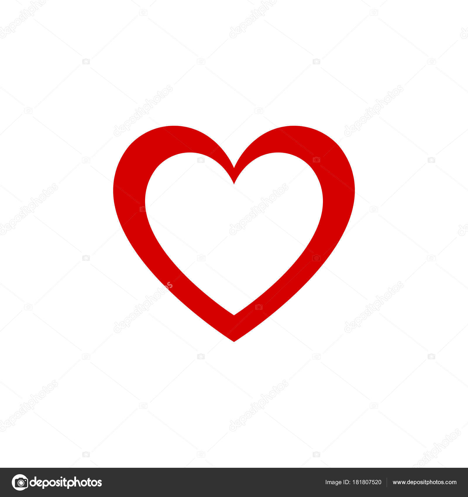 Red Heart Design Graphic Vector Icon Valentines Day And Lovers