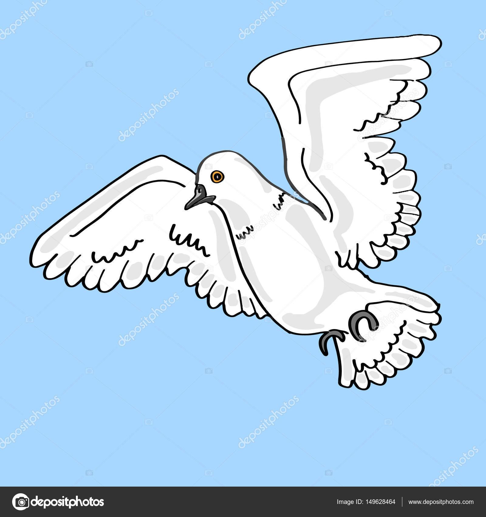 weiße Taube Vogel — Stockfoto © designartks #149628464