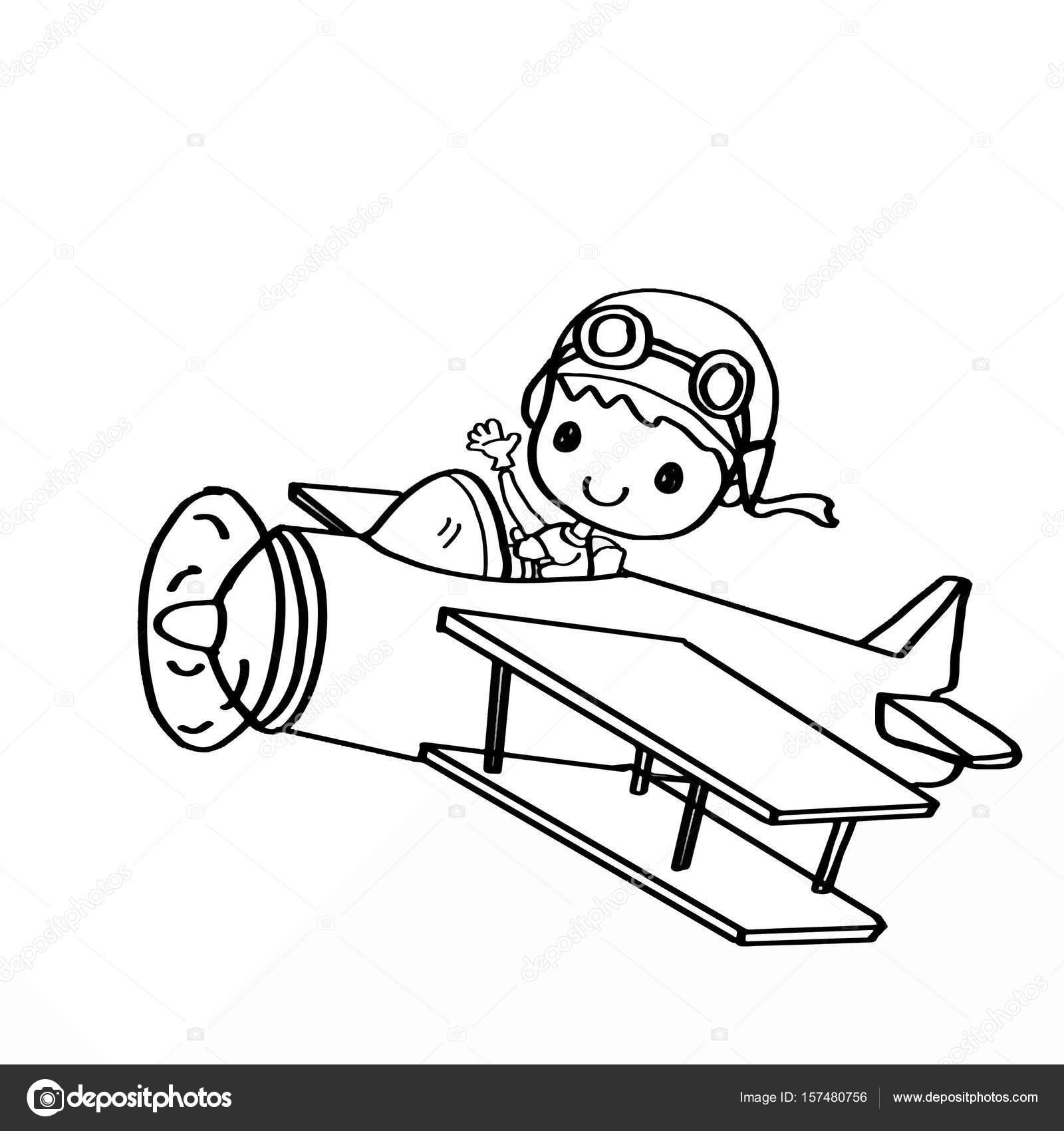 Yakışıklı Bir Uçak Boyama Alır Stok Foto Designartks 157480756