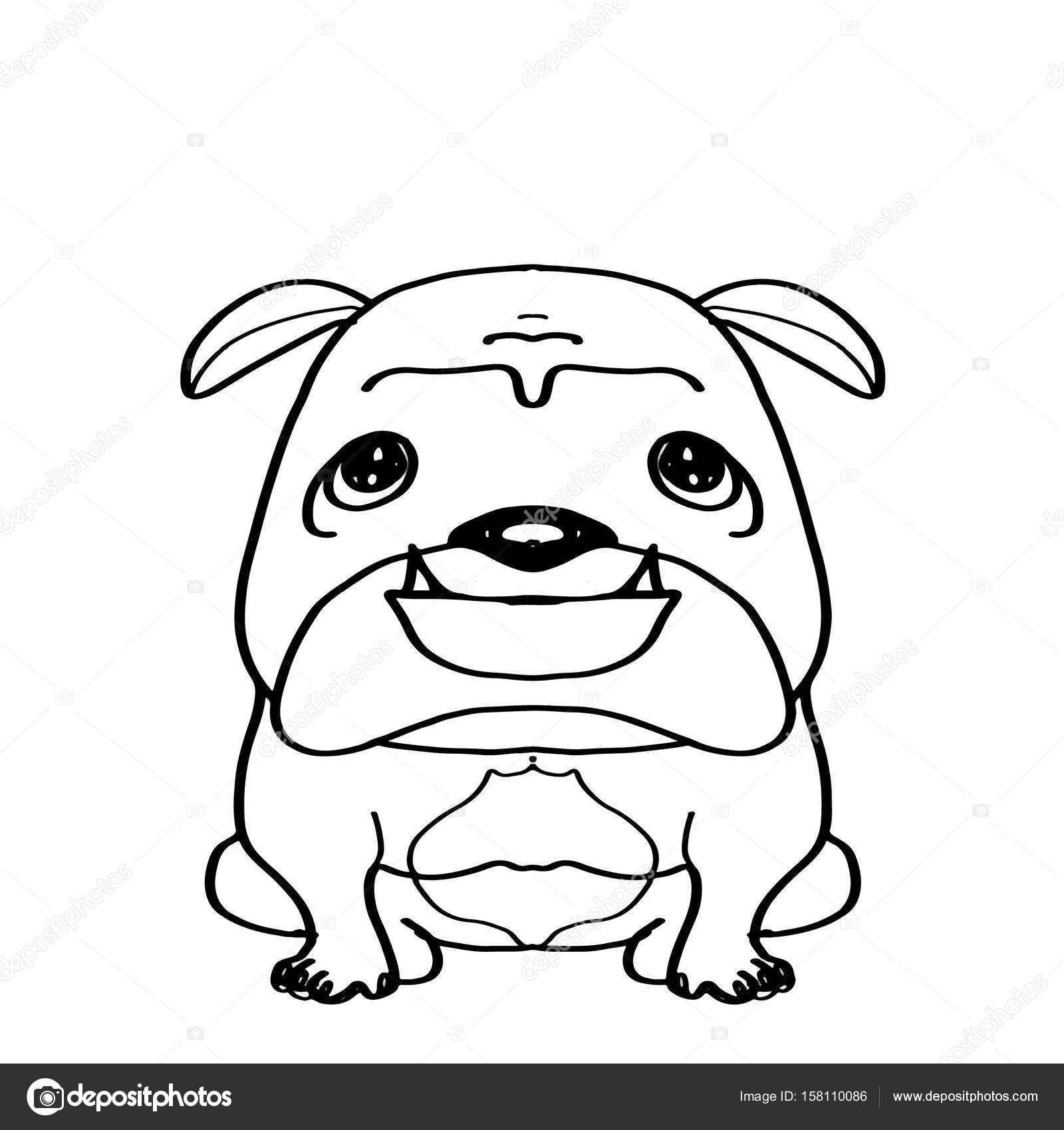 Sevimli Beyaz Köpek Boyama Stok Foto Designartks 158110086