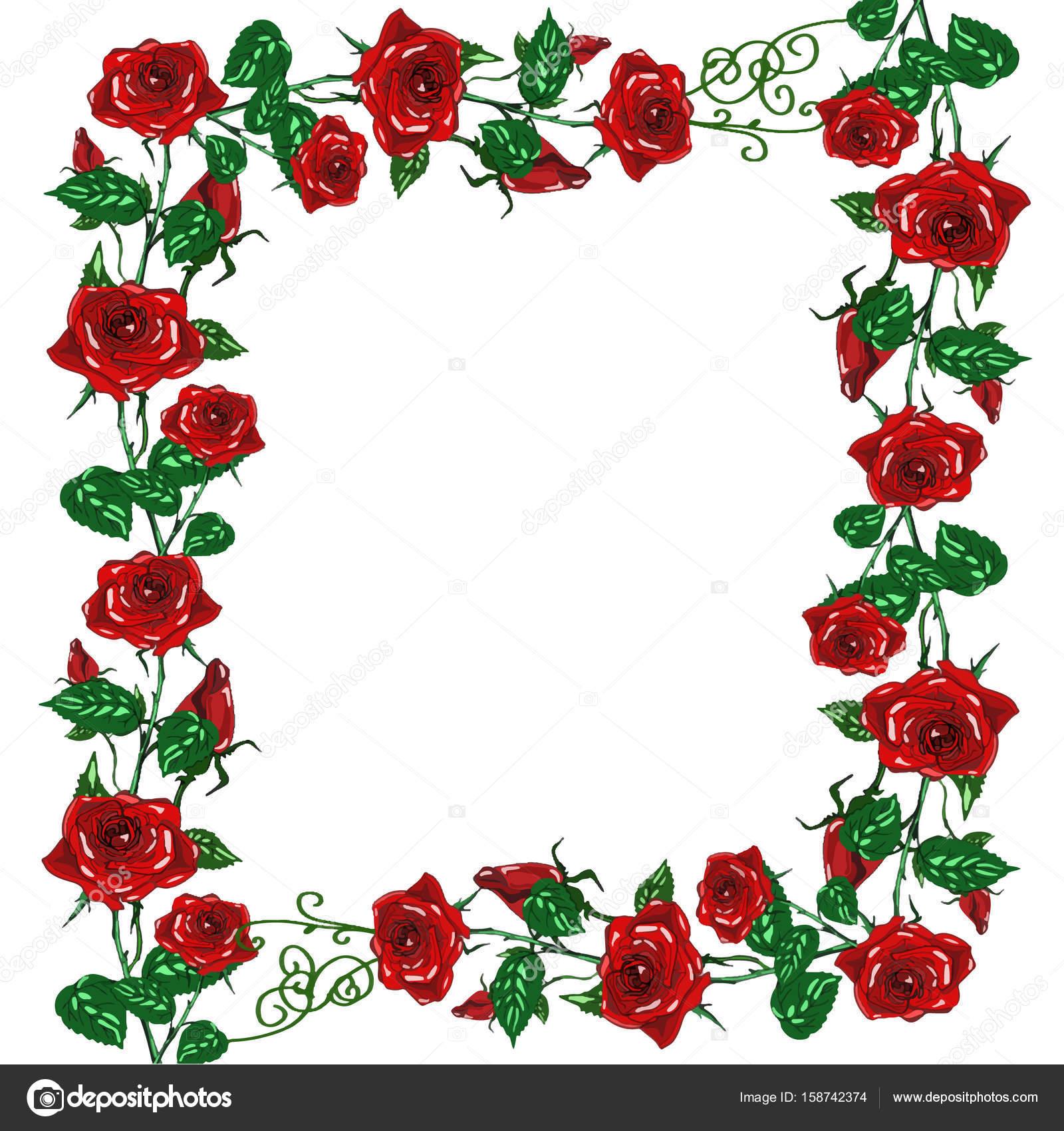 red rose frame floral � stock photo 169 designartks 158742374