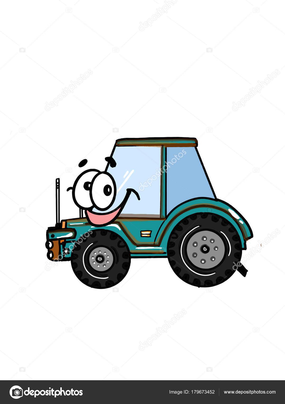 ładny Pojazd Ciężarowy Traktor Ilustracja Kreskówka Kolorowanie