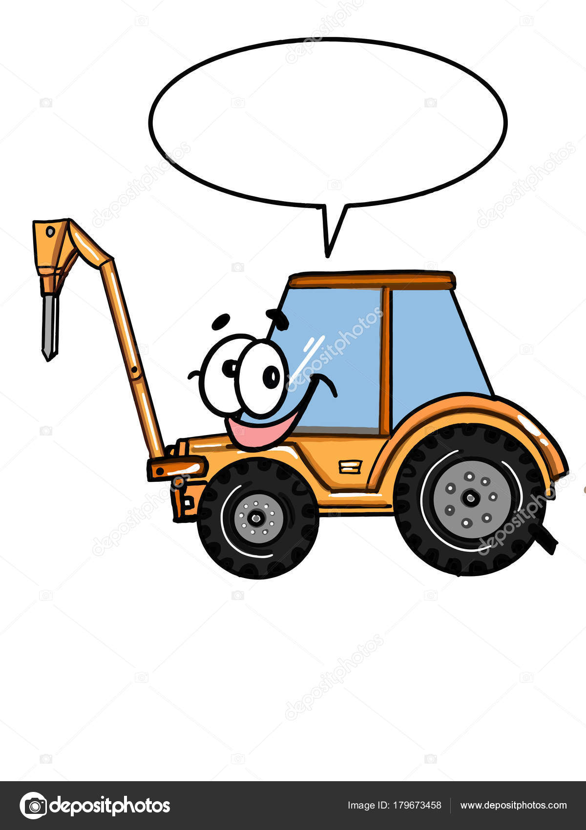 Carro Lindo Vehículo Tractor Para Colorear Dibujo Historieta ...