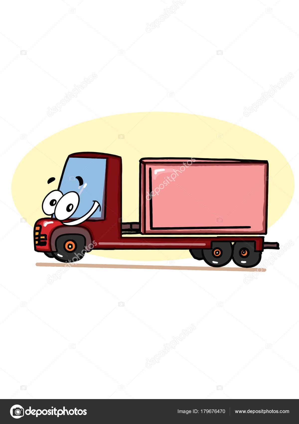 Dibujos Animados Ilustración Vehículo Dibujo Para Colorear — Foto de ...