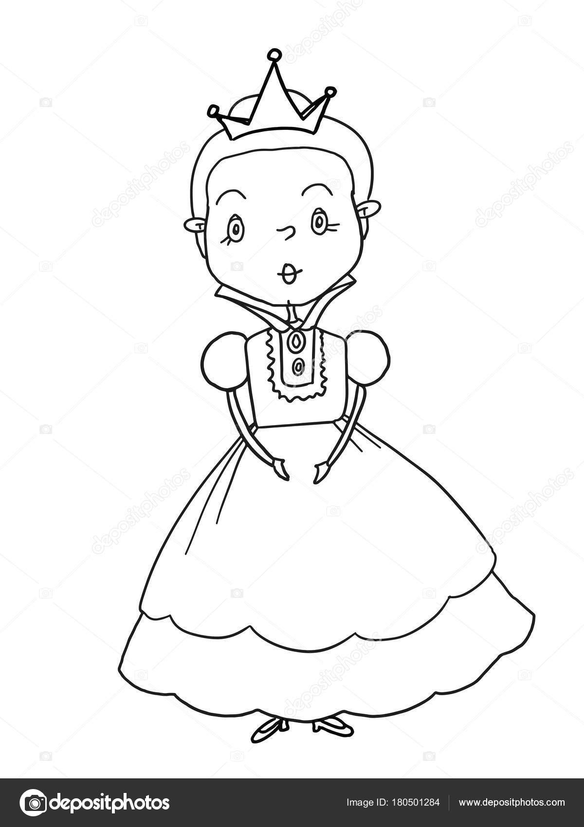 король принцесса принц замок иллюстрация рисунок раскраски