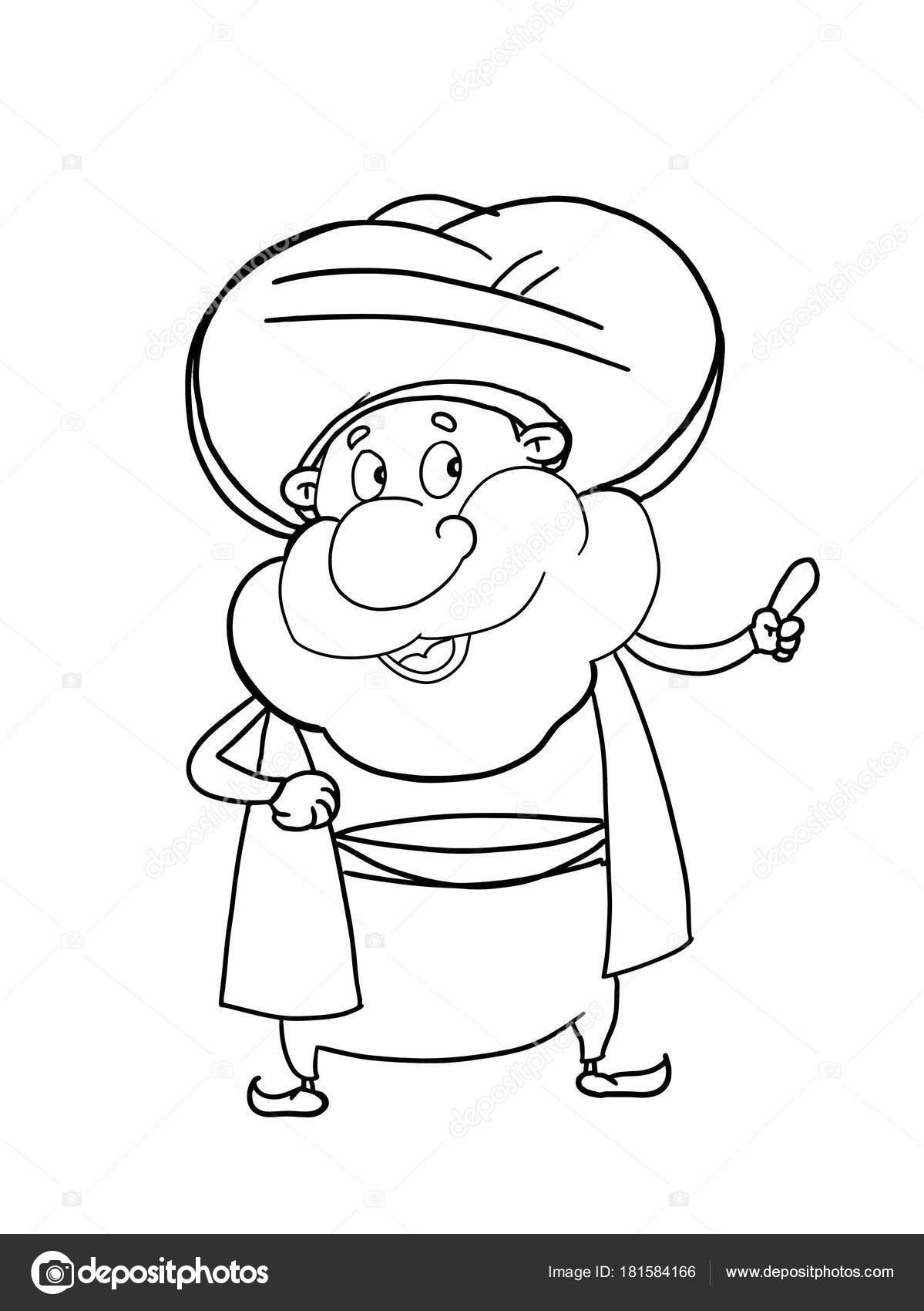 Nasreddin Hoca Karakter çizimi çizim Stok Foto Designartks