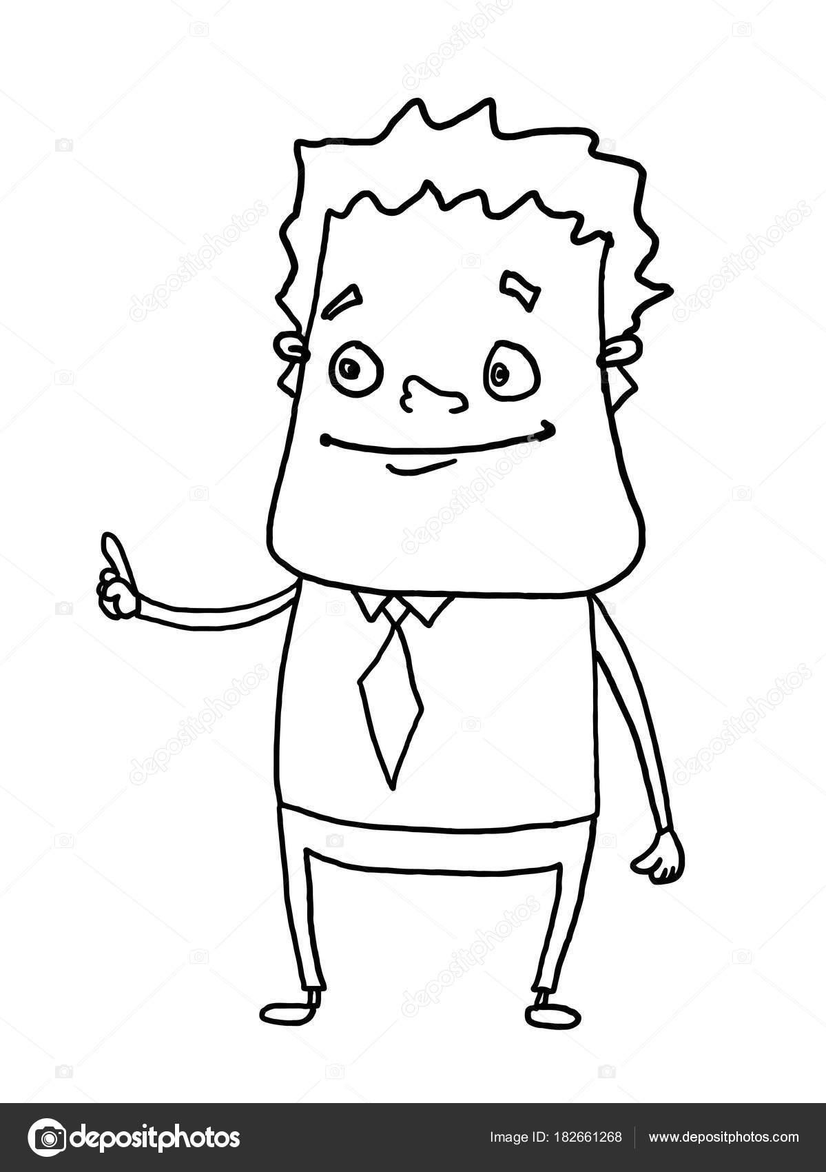Geschäftsmann Gefühl Abbildung Zeichnung Stockfoto Designartks