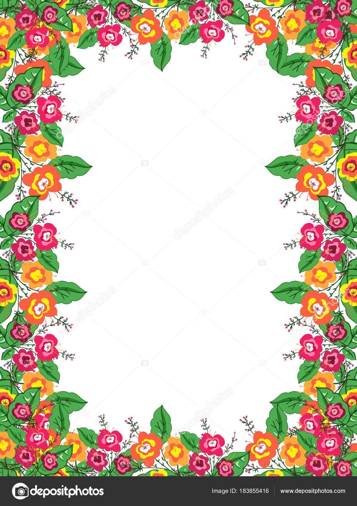Ilustración Marco Flores Color — Foto de stock © designartks #183855416
