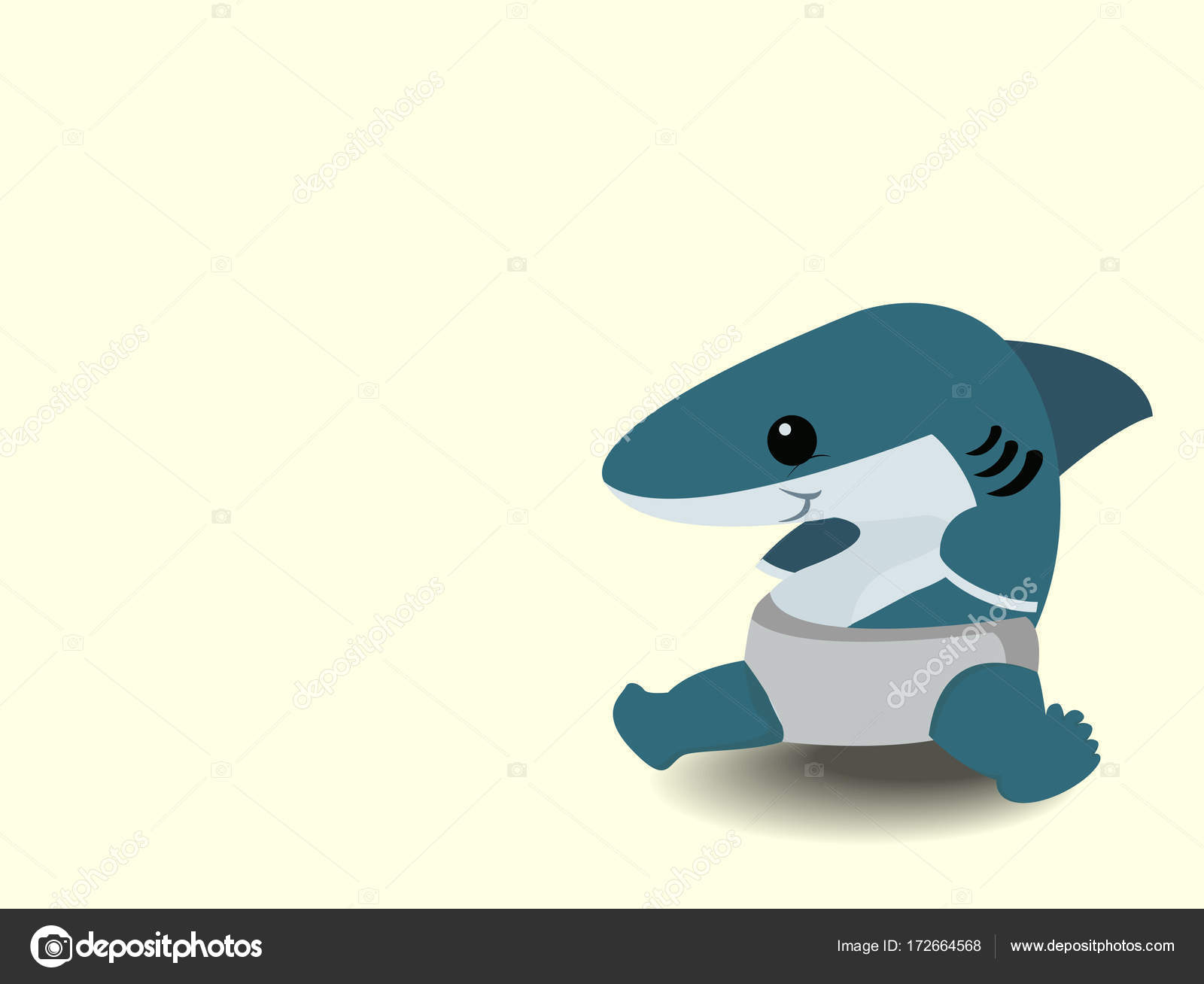 Fotos Tiburon Bebe Tiburon De Dibujos Animados Lindo Bebe