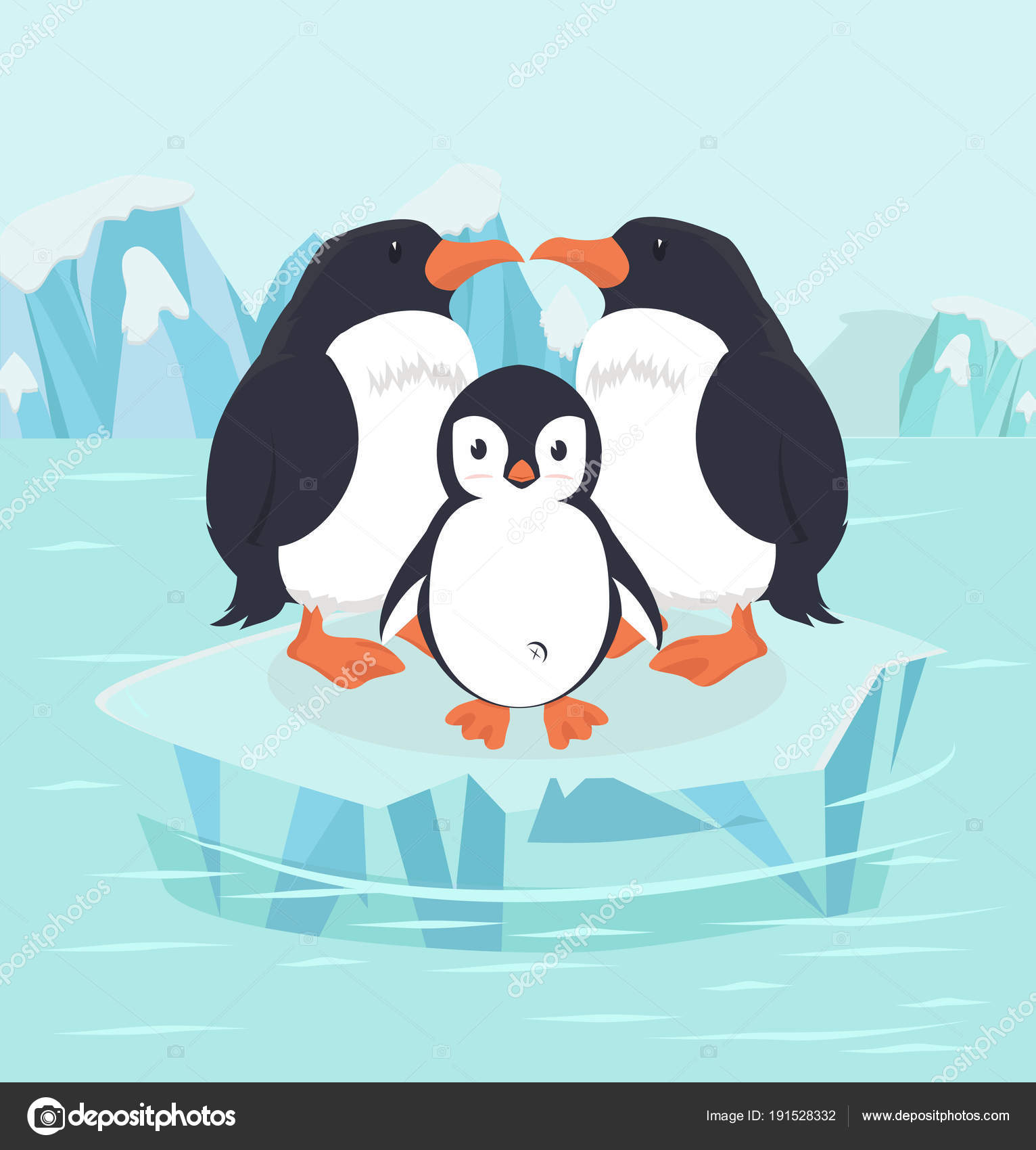 Penguin Bird Baby North Pole Arctic — Stock Vector ©  focus_bell@hotmail.co.th #191528332