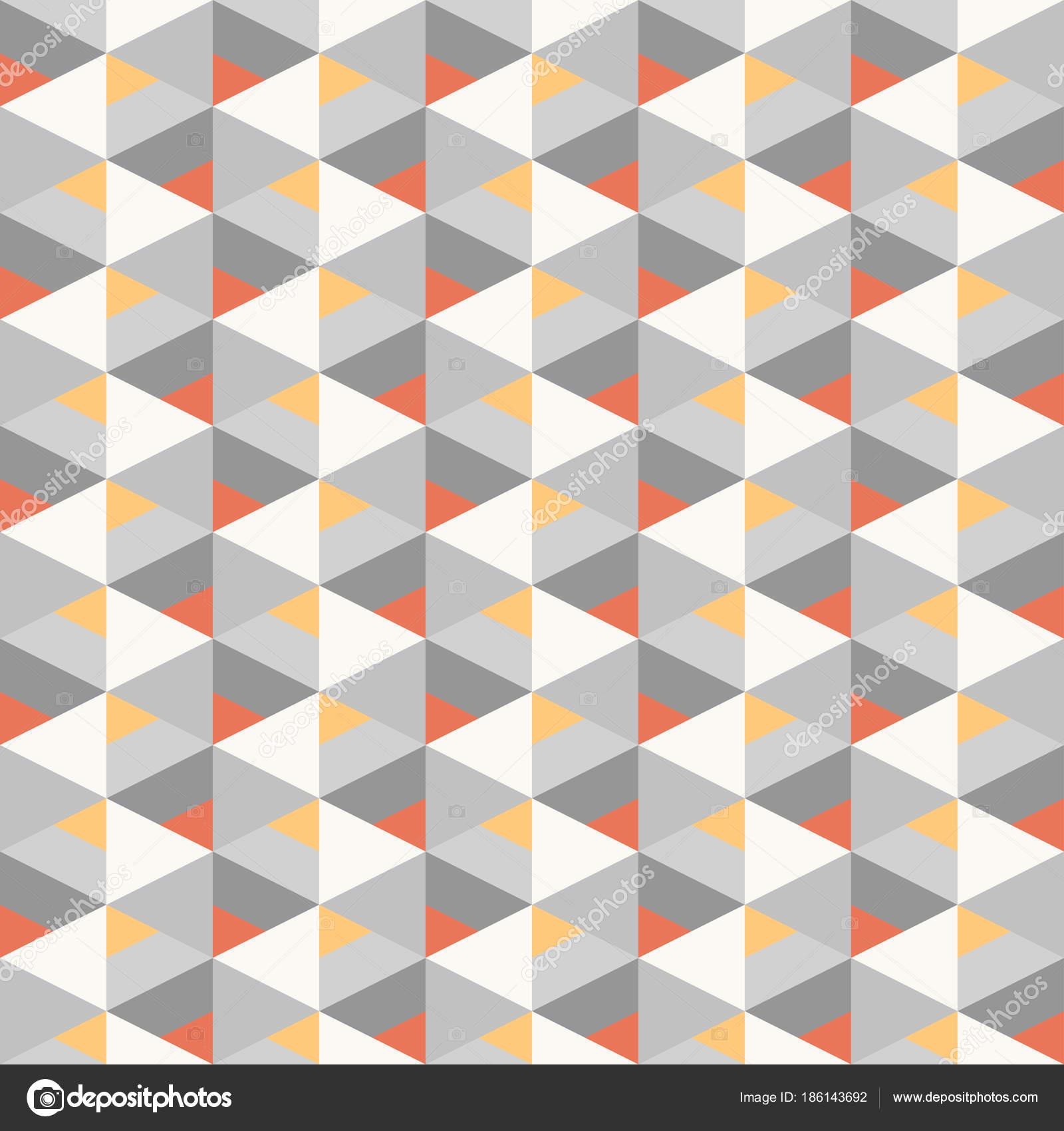 sin costuras geométricas triángulo colorido patrón textura elemento ...