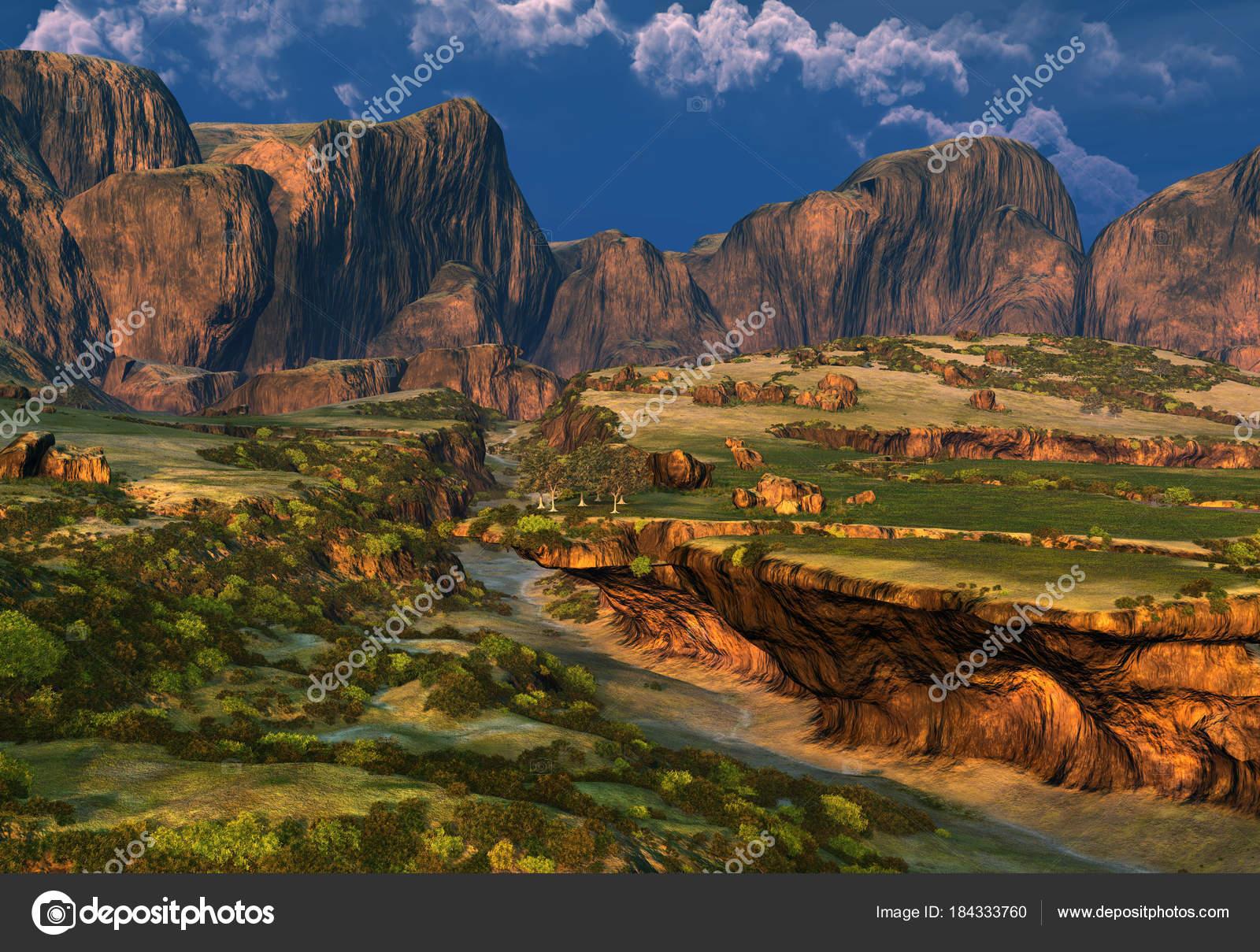 ロッキー ファンタジー風景 イラスト ストック写真 Diversepixel