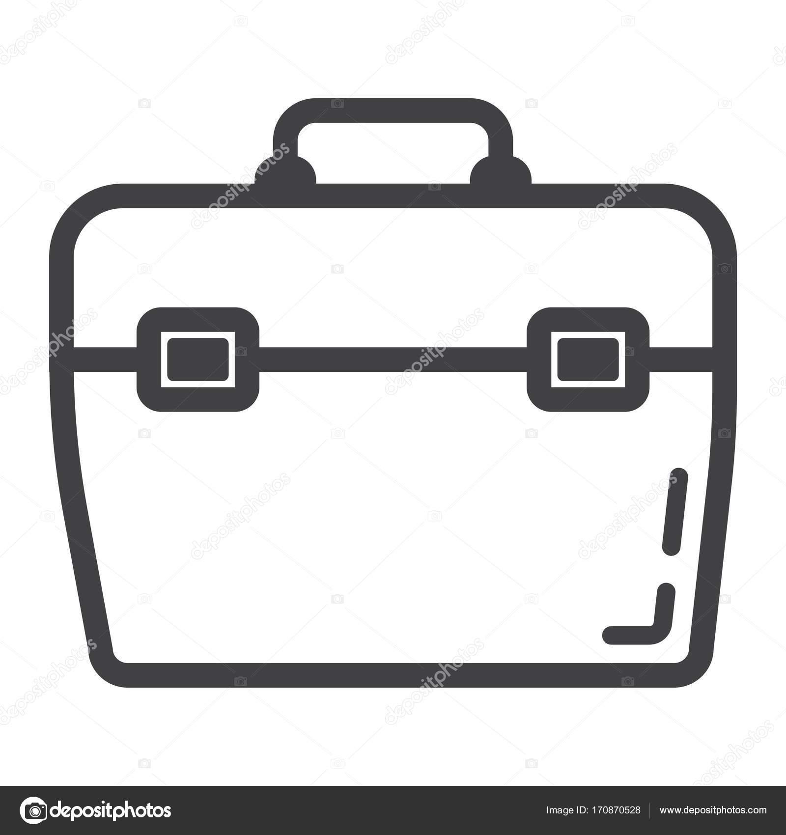 Toolbox-Linie-Symbol, bauen und reparieren, Toolkit Zeichen ...