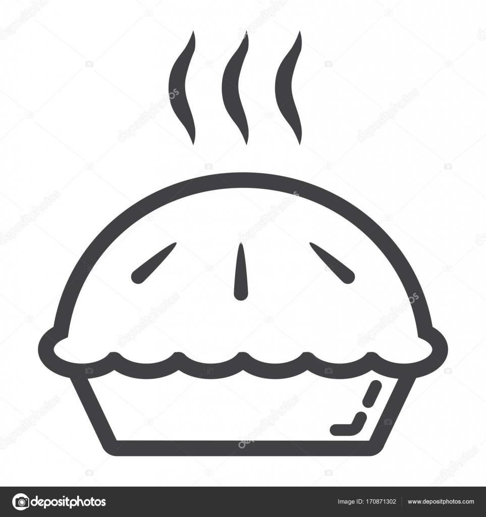 Liniensymbol heißen Kuchen, Essen und trinken, Bäckerei Zeichen ...