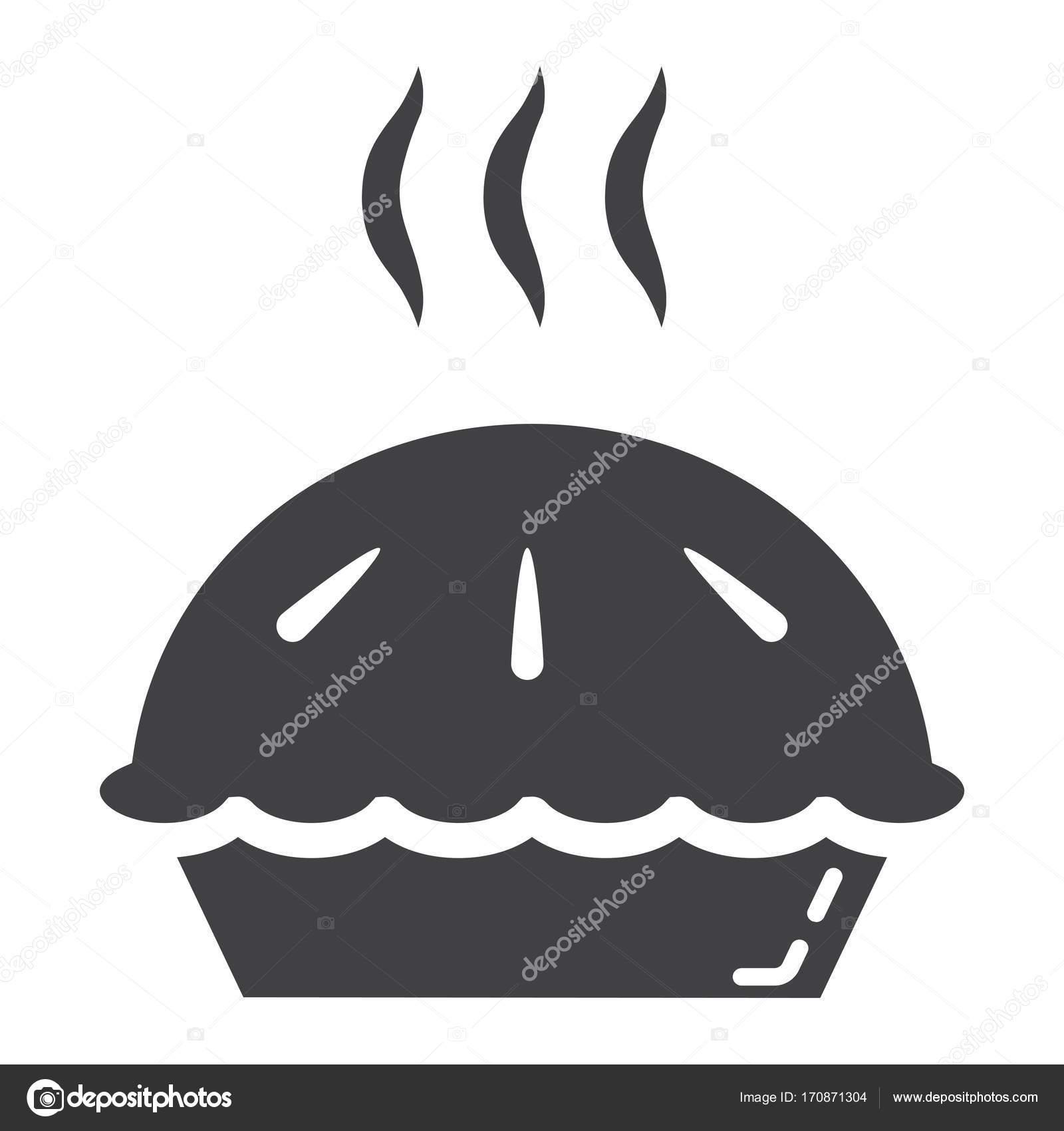 Heißen Kuchen Glyphe Symbol, Essen und trinken, Bäckerei Zeichen ...