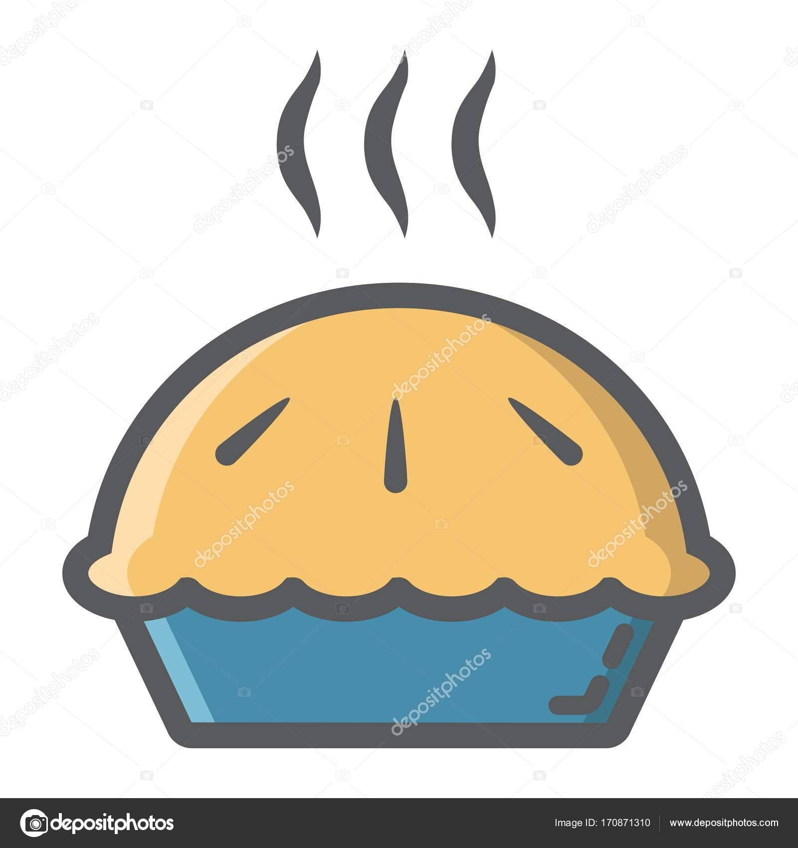 Heißen Kuchen gefüllt Übersicht-Symbol, Essen und trinken ...