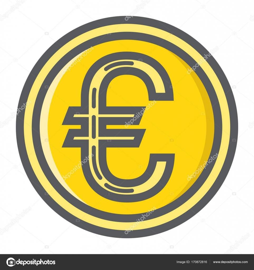 Euro Münzen Gefüllt übersicht Symbol Unternehmensfinanzierung
