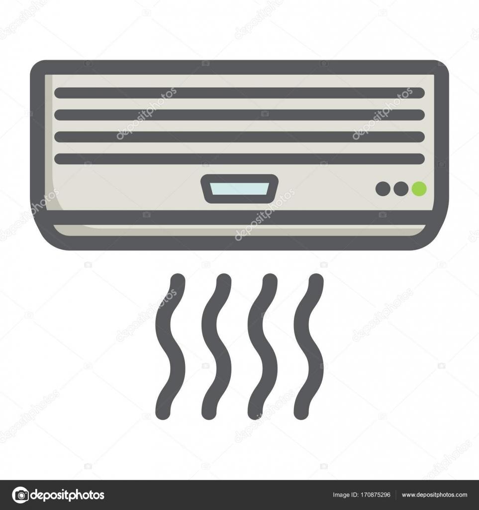 Klimaanlage bunte Liniensymbol, elektrische — Stockvektor © amin268 ...