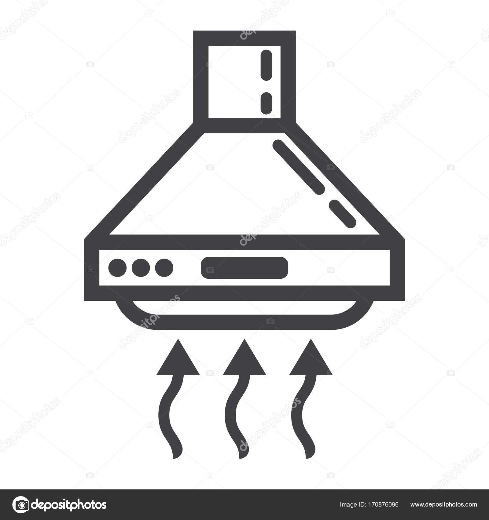 appareil m nager cuisine et ic ne de ligne extracteur hotte image vectorielle amin268. Black Bedroom Furniture Sets. Home Design Ideas