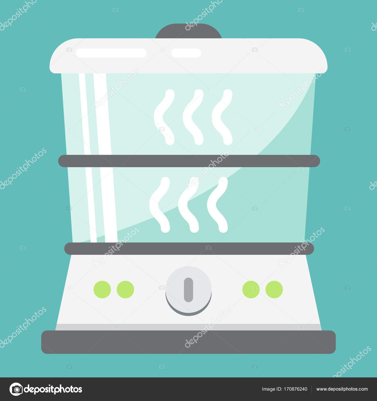 Food Steamer flat icon, kitchen and appliance — Stock Vector ...