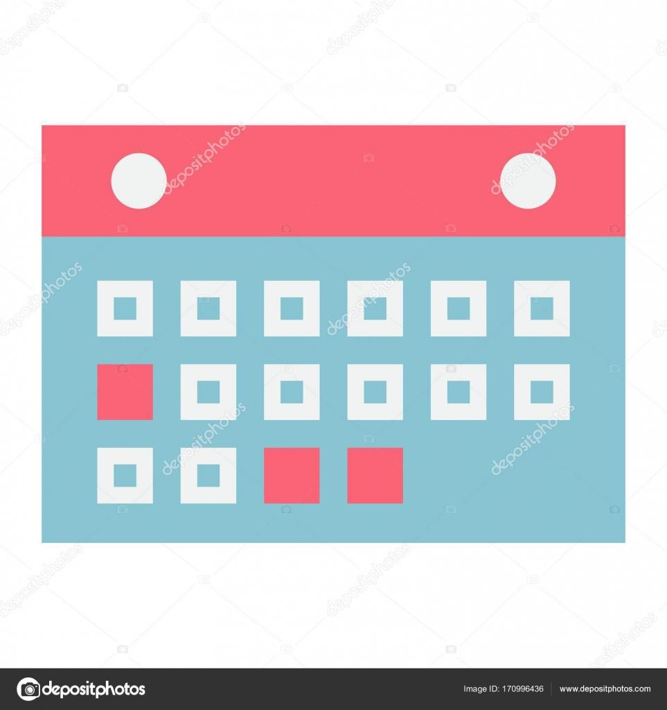 Calendario Per Sito Web.Bottone Calendario Piatto Icona Mobile E Sito Web
