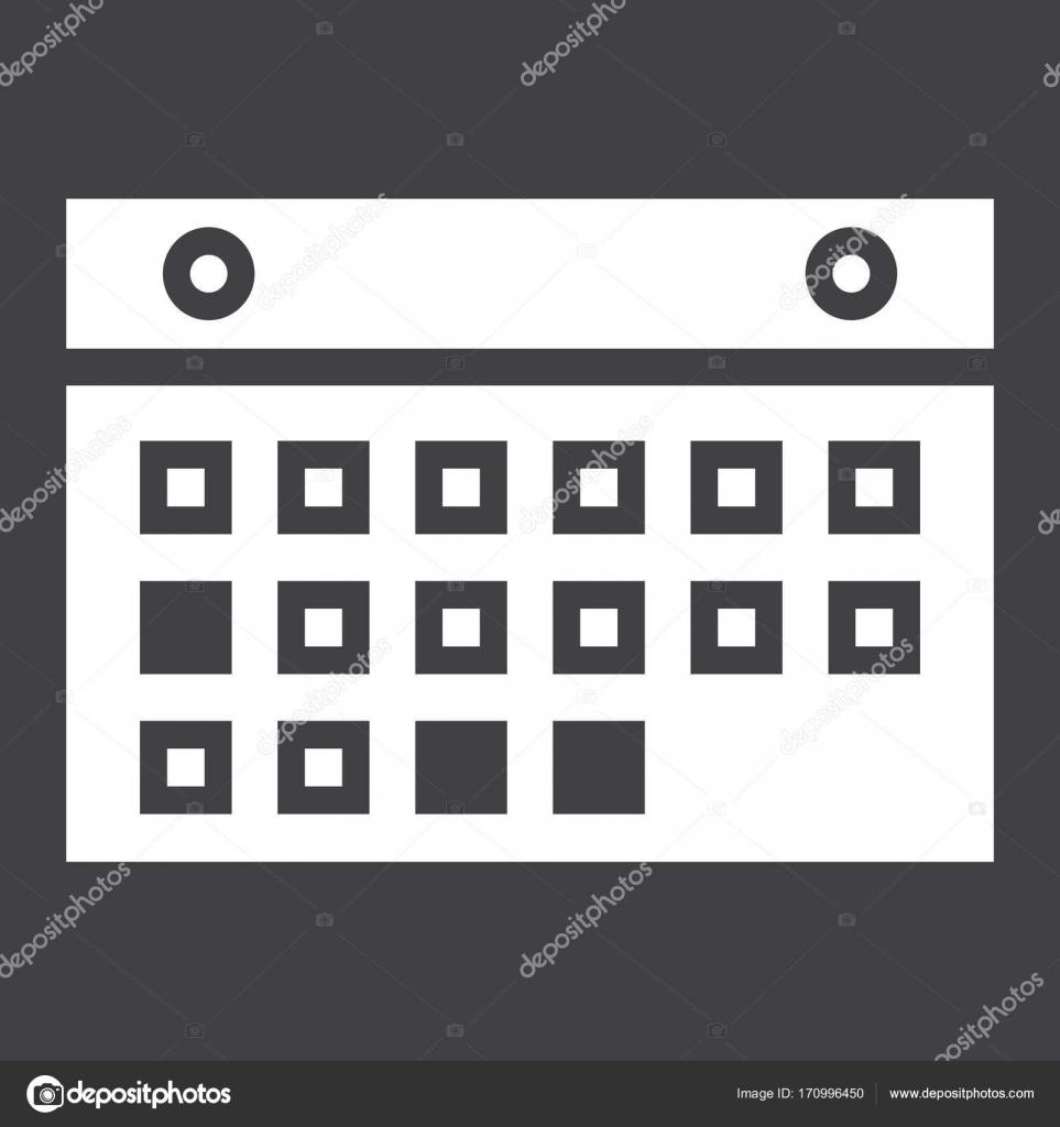 Calendario Per Sito Web.Pulsante Icona Mobile E Sito Web Solido Calendario