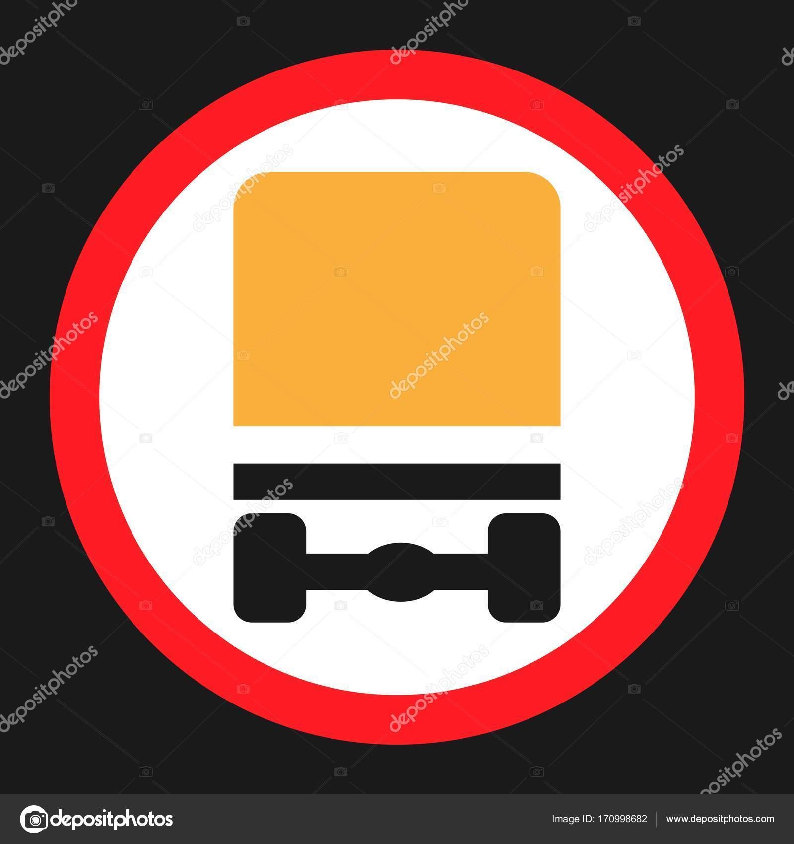 Dangerous Goods Transport Prohibition Sign Icon Stock Vector